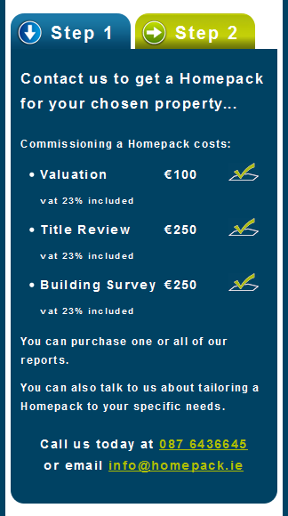 Homepack website design
