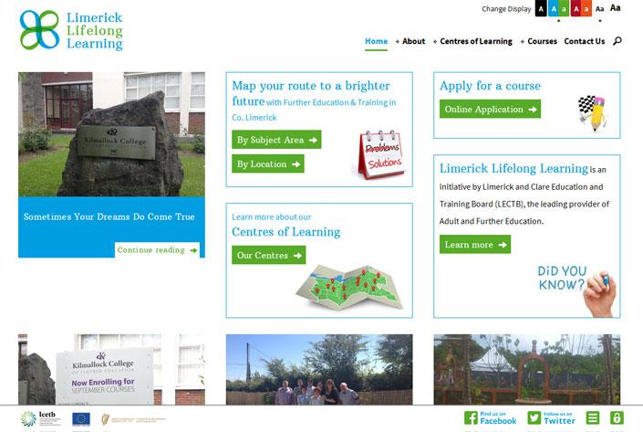 Limerick Lifelong Learning website
