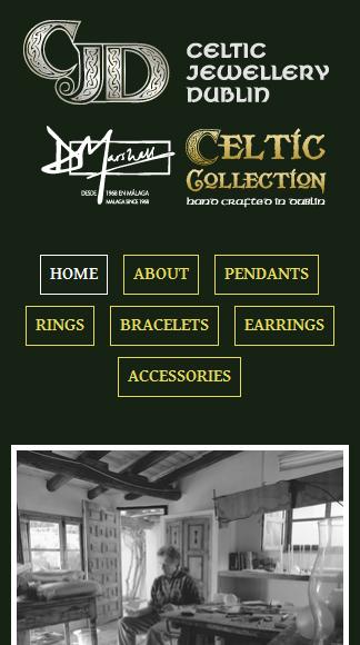 Celtic Jewellery Dublin Home - mobile