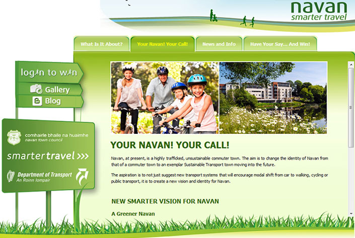 Navan Smarter Travel website