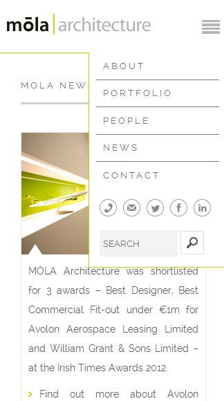 mola website - phone